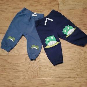 3/$15 Dinosaur Alligator Pants 2 Pack